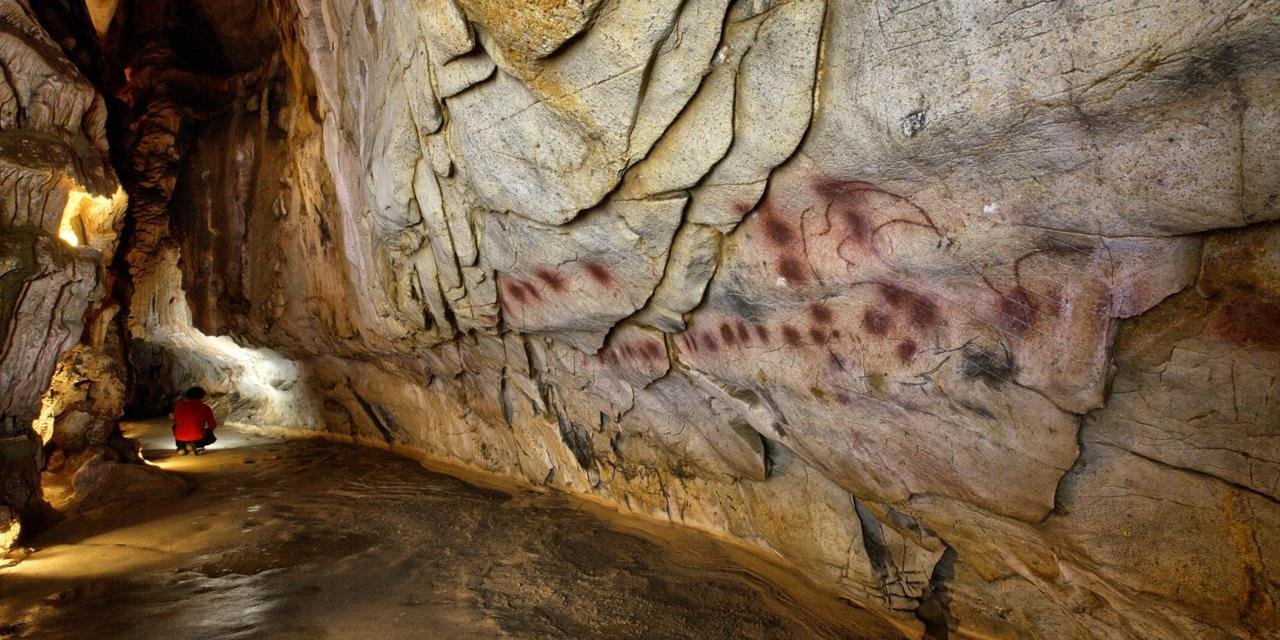 Circles from El Castillo, possibly the oldest cave art made by modern humans